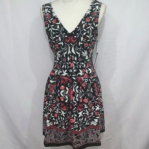 Vince Camuto floral sweetheart fit n flare dress